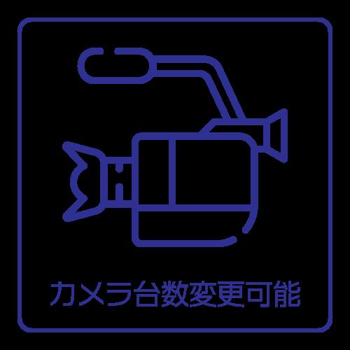 カメラ台数変更可能