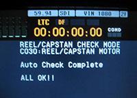 HDCAM-VTR サーボ系点検